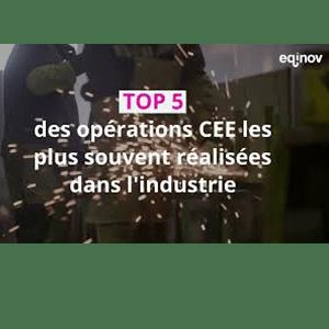 TOP 5 DES OPÉRATIONS CEE RÉALISÉES DANS L'INDUSTRIE